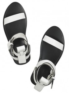 Alexander Wang Annette Leather Sandals White_3