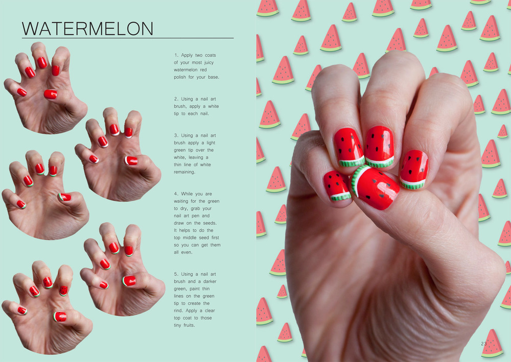 How to at home nail art with trophy wife bellabox australia watermelon for web prinsesfo Gallery